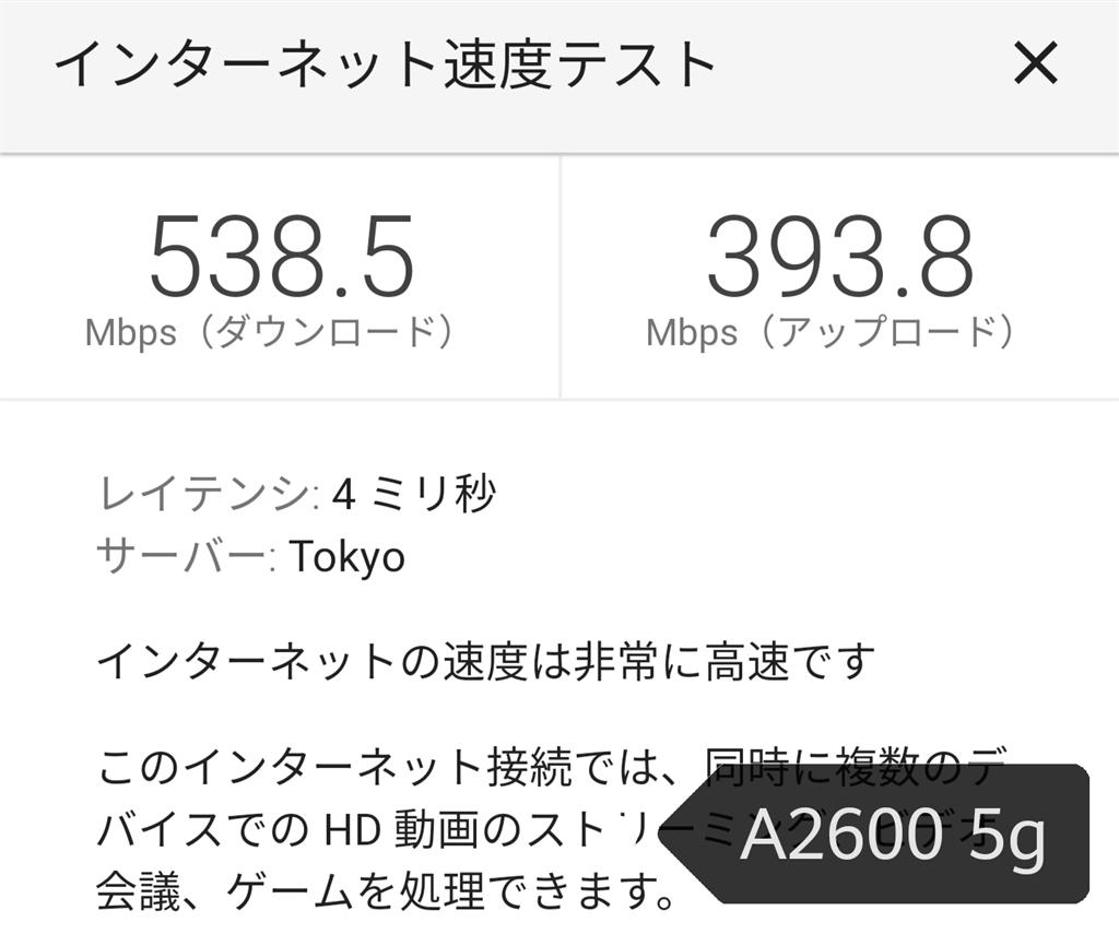 テスト google 速度 インターネット