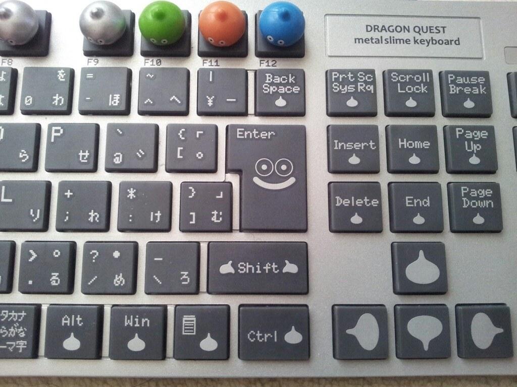 はぐれメタルやスライムのフィギュアが可愛らしいキーボード Hori Pc
